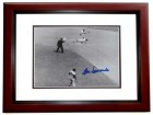 Don Newcombe Signed - Autographed Brooklyn Dodgers 8x10 inch Photo - 1955 World Series Champion + 1956 MVP and Cy Young Winner MAHOGANY CUSTOM FRAME - Guaranteed to pass PSA or JSA