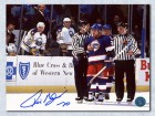 Tie Domi Winnipeg Jets Signed 8X10 Photo With Referee