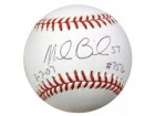"Mike Bacsik Autographed MLB Baseball ""8-7-07 & #756"" PSA/DNA #S65529"