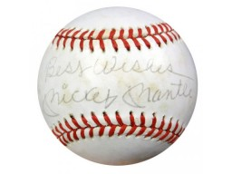 "Mickey Mantle Autographed AL MacPhail Baseball New York Yankees ""Best Wishes"" PSA/DNA #S14858"