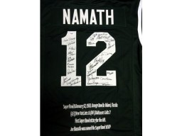 1969 Super Bowl Champion New York Jets Autographed Green Jersey With 25 Signatures Including Joe Namath PSA/DNA Stock #51695