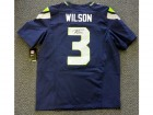 Russell Wilson Autographed Blue Seattle Seahawks Nike Elite Jersey Size 48 RW Holo Stock #60976