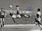 Pele Autographed Bicycle Kick 16x20 Photo CBD Brazil in Blue PSA/DNA Stock #98192