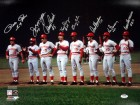 Cincinnati Reds Big Red Machine Autographed 16x20 Photo With 8 Signatures Including Johnny Bench, Pete Rose, Joe Morgan & Tony Perez PSA/DNA Stock #35424