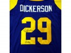 "Eric Dickerson Autographed Blue St. Louis Rams Jersey ""HOF 99"" PSA/DNA Stock #53226"