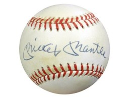 Mickey Mantle Autographed AL Baseball New York Yankees PSA/DNA #U03081