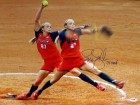 "Jennie Finch Autographed 16x20 Photo Team USA ""04 Gold"" PSA/DNA Stock #63692"