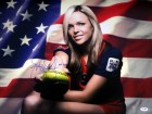 "Jennie Finch Autographed 16x20 Photo Team USA ""04 Gold"" PSA/DNA Stock #63693"