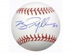 Brad Miller Autographed Official MLB Baseball Seattle Mariners MCS Holo Stock #64951