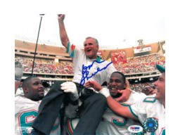 Don Shula Signed - Autographed Miami Dolphins 300 Wins 8x10 inch Photo - PSA/DNA Certificate of Authenticity (COA)