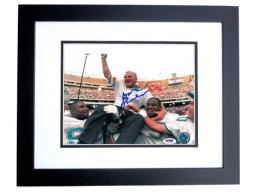 Don Shula Signed - Autographed Miami Dolphins 300 Wins 8x10 inch Photo BLACK CUSTOM FRAME - PSA/DNA Certificate of Authenticity (COA)