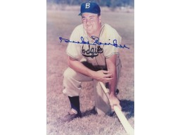 Duke Snider Signed - Autographed Brooklyn Dodgers 4x6 Photo - Guaranteed to pass PSA or JSA - Deceased Hall of Famer