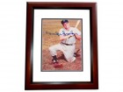 Duke Snider Signed - Autographed Brooklyn Dodgers 4x6 Photo MAHOGANY CUSTOM FRAME - Guaranteed to pass PSA or JSA - Deceased Hall of Famer