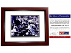 Duke Snider Signed - Autographed Brooklyn Dodgers 8x10 inch Photo MAHOGANY CUSTOM FRAME - PSA/DNA Certificate of Authenticity (COA) - Deceased Hall of Famer
