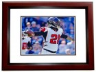 Desmond Trufant Signed - Autographed Atlanta Falcons 8x10 inch Photo MAHOGANY CUSTOM FRAME - Guaranteed to pass PSA or JSA