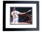 Dan Uggla Autographed Florida Marlins 8x10 Photo BLACK CUSTOM FRAME