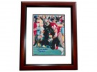 Dave Wilcox Signed - Autographed San Francisco 49ers 8x10 inch Photo with HALL OF FAME Inacription MAHOGANY CUSTOM FRAME - Guaranteed to pass PSA or JSA