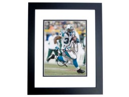 Deangelo Williams Signed - Autographed Carolina Panthers 8x10 inch Photo BLACK CUSTOM FRAME - Guaranteed to pass PSA or JSA