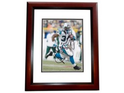 Deangelo Williams Signed - Autographed Carolina Panthers 8x10 inch Photo MAHOGANY CUSTOM FRAME - Guaranteed to pass PSA or JSA
