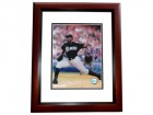 Dontrell Willis Signed - Autographed Florida Marlins 8x10 Photo MAHOGANY CUSTOM FRAME with Rookie Of The Year Inscription