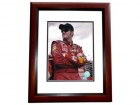 Dale Earnhardt Jr. Unsigned Bud 8x10 inch Photo MAHOGANY CUSTOM FRAME - RARE Licensed Photo