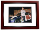Dale Earnhardt Jr. Unsigned Car + Driver 8x10 inch Photo MAHOGANY CUSTOM FRAME