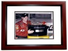 Dale Earnhardt Jr. Unsigned Daytona 500 Trophy 8x10 inch Photo MAHOGANY CUSTOM FRAME - RARE Licensed Photo