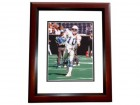 Dan McGwire Signed - Autographed Seattle Seahawks 8x10 inch Photo MAHOGANY CUSTOM FRAME - Guaranteed to pass PSA or JSA