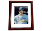 Danny Walton Signed - Autographed Milwaukee Brewers 8x10 inch Photo MAHOGANY CUSTOM FRAME - Guaranteed to pass PSA or JSA