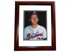 Denny LeMaster Signed - Autographed Atlanta Braves 8x10 inch Photo MAHOGANY CUSTOM FRAME - Guaranteed to pass PSA or JSA