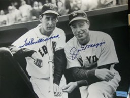 Ted / Dimaggio, Joe Williams Signed B&W 11x14 Photo By Joe Dimaggio and Ted Williams