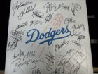 Los Angeles Dodgers (2013) Signed Replica Full Size Base by the 2013 Los Angeles Dodgers team (Signed before Yasiel Puig Came to the team)