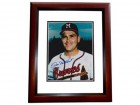 Don Nottlebart Signed - Autographed Milwaukee Braves 8x10 inch Photo MAHOGANY CUSTOM FRAME - Guaranteed to pass PSA or JSA