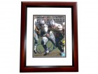 Don Perkins Signed - Autographed Dallas Cowboys 8x10 inch Photo MAHOGANY CUSTOM FRAME - Guaranteed to pass PSA or JSA