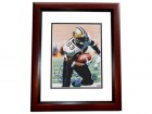 Donte Stallworth Signed - Autographed New Orleans Saints 8x10 inch Photo MAHOGANY CUSTOM FRAME - Guaranteed to pass PSA or JSA