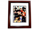 Doug Flutie Signed - Autographed Boston College 8x10 inch Photo MAHOGANY CUSTOM FRAME - Guaranteed to pass PSA or JSA - Heisman Trophy Winner