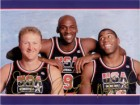 Dream Team (Michael Jordan / Larry Bird / Magic Johnson) Signed 8x10 Photo By Michael Jordan, Larry Bird and Magic Johnson