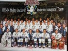 Anaheim Mighty Ducks (1993-94) Signed 16x20 Photo By the inaugural 1993-94 Anaheim Mighty Ducks Team