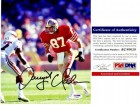 Dwight Clark Signed - Autographed San Francisco 49ers 8x10 inch Photo - PSA/DNA Certificate of Authenticity (COA)