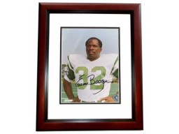 Emerson Boozer Signed - Autographed New York Jets 8x10 inch Photo MAHOGANY CUSTOM FRAME - Guaranteed to pass PSA or JSA - Super Bowl III Champion