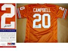 Earl Campbell Signed - Autographed Texas Longhorns Orange Custom Jersey with PSA/DNA Certificate of Authenticity (COA)