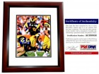 Eric Dickerson Signed - Autographed Los Angeles Rams 8x10 inch Photo MAHOGANY CUSTOM FRAME - PSA/DNA Certificate of Authenticity (COA)