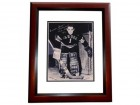 Emile Francis Signed - Autographed New York Rangers 8x10 inch Photo MAHOGANY CUSTOM FRAME - Guaranteed to pass PSA or JSA - Hall of Famer