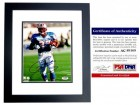 Eddie George Signed - Autographed Houston Oilers 8x10 inch Photo BLACK CUSTOM FRAME - PSA/DNA Certificate of Authenticity (COA)