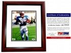 Eddie George Signed - Autographed Houston Oilers 8x10 inch Photo MAHOGANY CUSTOM FRAME - PSA/DNA Certificate of Authenticity (COA)