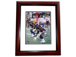 Ed McDaniel Signed - Autographed Minnesota Vikings 8x10 inch Photo MAHOGANY CUSTOM FRAME - Guaranteed to pass PSA or JSA