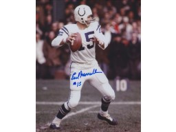 Earl Morrall Signed - Autographed Baltimore Colts 8x10 inch Photo - Guaranteed to pass PSA or JSA - 3x Super Bowl Champion - Deceased 2014