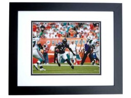 Ed Reed Signed - Autographed Baltimore Ravens 8x10 inch Photo BLACK CUSTOM FRAME - Guaranteed to pass PSA or JSA