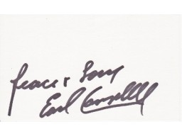 Earl Campbell Signed - Autographed Texas Longhorns - Houston Oilers 3x5 inch index card - Guaranteed to pass PSA or JSA