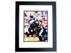 Eddie George Signed - Autographed Tennessee Titans 8x10 inch Photo BLACK CUSTOM FRAME - Guaranteed to pass PSA or JSA - 1995 Heisman Trophy Winner